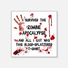 "zombie apocalypse t-shirt Square Sticker 3"" x 3"""