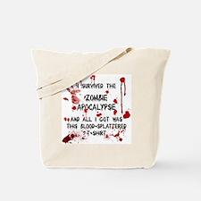 zombie apocalypse t-shirt Tote Bag