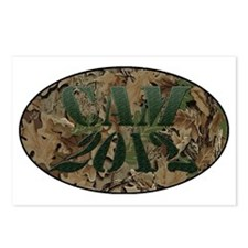 camo white Postcards (Package of 8)
