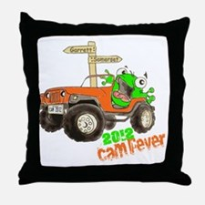 CAM 2012 White Throw Pillow