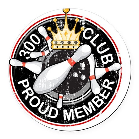 300Club_scratched2 Round Car Magnet