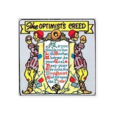 "Optimists Creed Square Sticker 3"" x 3"""