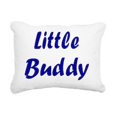 little  buddy navy Rectangular Canvas Pillow