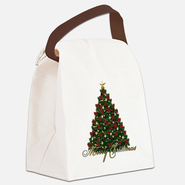 s4umerrychristmastree Canvas Lunch Bag