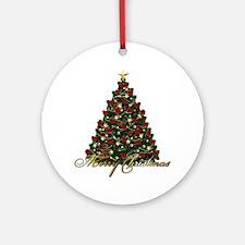 s4umerrychristmastree Round Ornament