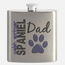 D Welsh Springer Spaniel Dad 2 Flask