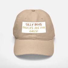 Trucks are for Girls Baseball Baseball Cap