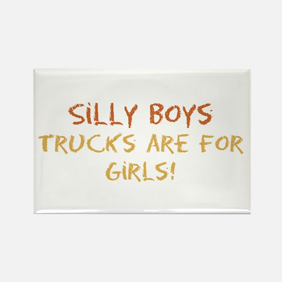 Trucks are for Girls Rectangle Magnet