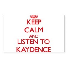 Keep Calm and listen to Kaydence Decal