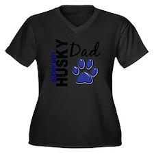 D Siberian H Women's Plus Size Dark V-Neck T-Shirt