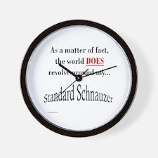 Schnauzer World Wall Clock