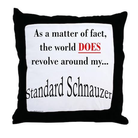 Schnauzer World Throw Pillow