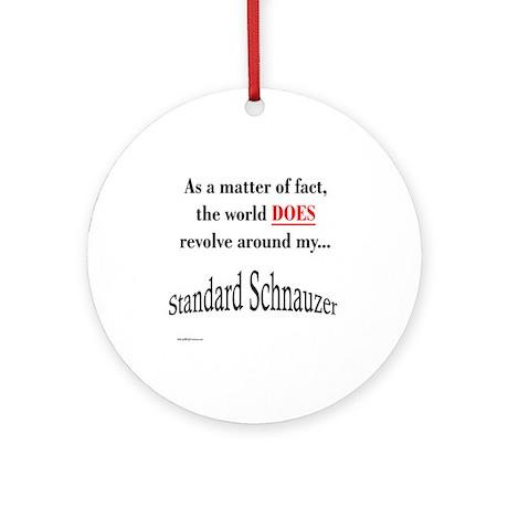 Schnauzer World Ornament (Round)