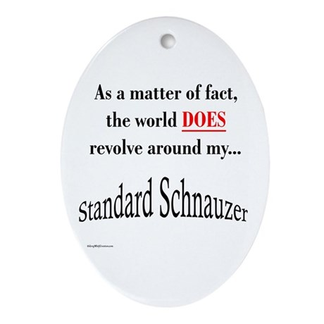 Schnauzer World Oval Ornament