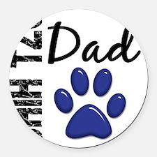 D Shih Tzu Dad 2 Round Car Magnet