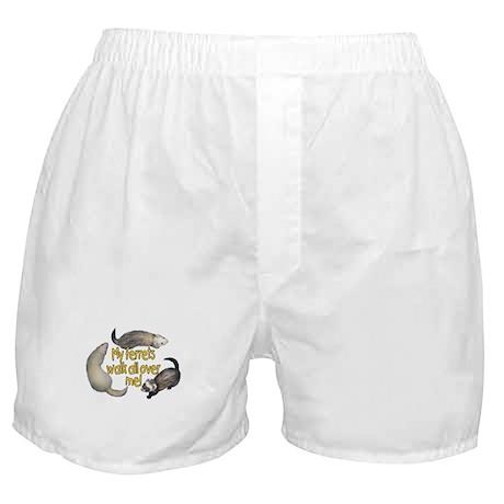 Walk Over Me Boxer Shorts