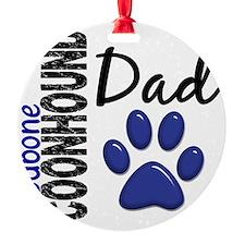 D Redbone Coonhound Dad 2 Round Ornament