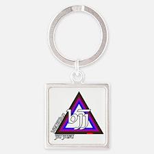 BJJ - Brazilian Jiu Jitsu - Colors Square Keychain