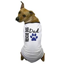 D Rescue Dog Dad 2 Dog T-Shirt
