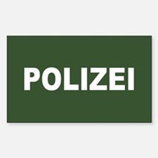 German Polizei Rectangle Decal
