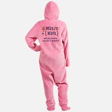 music-math3 Footed Pajamas