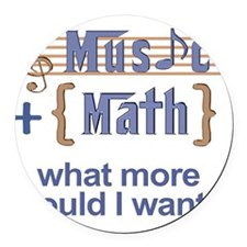 music-math3 Round Car Magnet