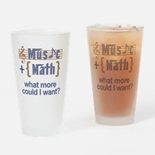 music-math3 Drinking Glass