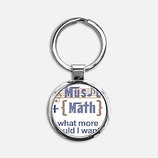 music-math3 Round Keychain