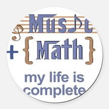 music and math Round Car Magnet