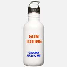 obama hates me2 Water Bottle
