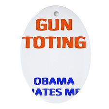 obama hates me2 Oval Ornament