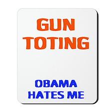 obama hates me2 Mousepad