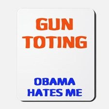 obama hates me2 Mousepad