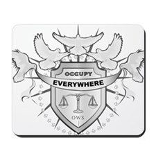 OccupyEvrywhrOnWhite Mousepad