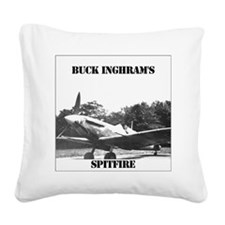 larger_spitfire_fflat Square Canvas Pillow