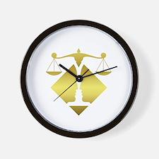4600x4600at200PDRRoundScaleLogoBlk Wall Clock