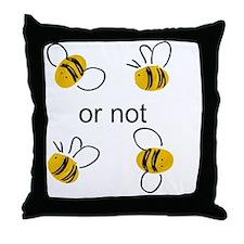 2 bee Throw Pillow