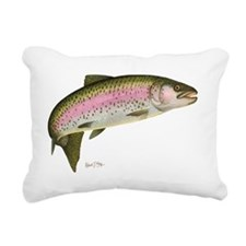 Rainbow Trout 1 Rectangular Canvas Pillow