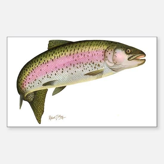 Rainbow Trout 1 Sticker (Rectangle)
