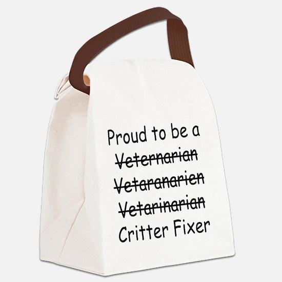Veterinarian mug Canvas Lunch Bag