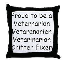 Veterinarian mug Throw Pillow