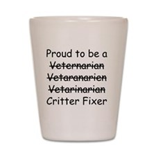 Veterinarian mug Shot Glass
