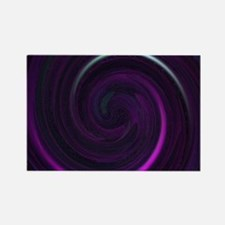 Purple twirl toiletry Rectangle Magnet