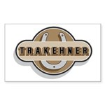 Trakehner Horse Rectangle Sticker