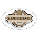 Trakehner Horse Oval Sticker
