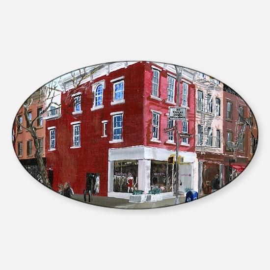 Winter in Greenwich Village Sticker (Oval)