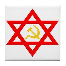 Russian Jewish Pride Tile Coaster