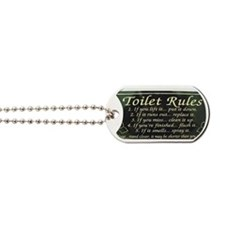 toilet rules Dog Tags