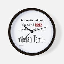 Tibetan Terrier World Wall Clock