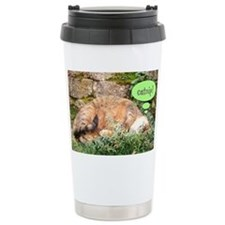 Mona Catnipping Travel Coffee Mug